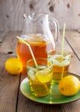 Iced tea with lemon Royalty Free Stock Photography