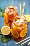 Iced tea with lemon Royalty Free Stock Image
