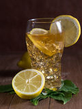 Iced tea with lemon Stock Photography