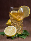 Iced tea with lemon Stock Photos