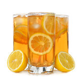 Iced tea with lemon Royalty Free Stock Photo