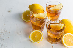 Iced tea with lemon and mint Stock Photography