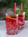 Iced tea with lemon slices Stock Photography