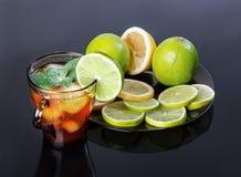 Iced tea and lime Stock Image