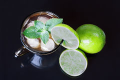 Iced tea and lime Stock Photography