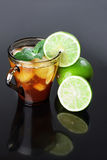 Iced tea and lime Royalty Free Stock Images