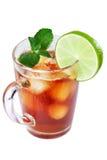 Iced tea and lime Stock Photo