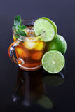 Iced tea and lime Royalty Free Stock Photo