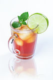 Iced tea and lime Stock Photos