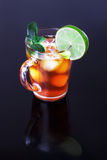 Iced tea and lime Royalty Free Stock Photography