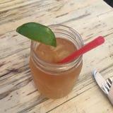 Iced Tea Mason Jar royalty free stock photography
