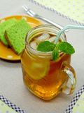 Iced tea with mint Royalty Free Stock Photography