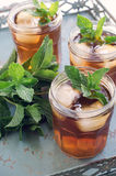 Iced Tea with Mint Stock Photos