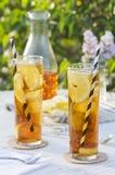 Iced Tea Outside in Garden Stock Image