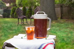 Iced Tea Outside Stock Photography