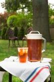 Iced Tea Outside Stock Photo