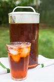 Iced Tea Outside Royalty Free Stock Photography