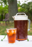 Iced Tea Outside Royalty Free Stock Photos