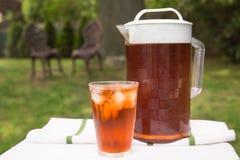 Iced Tea Outside Stock Image