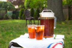 Iced Tea Outside Royalty Free Stock Photo