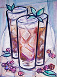 Iced tea painting Royalty Free Stock Images