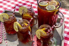 Iced Tea at Picnic in Grand Junction, Colorado Stock Photos