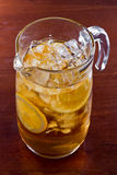 Iced tea pitcher Royalty Free Stock Photo