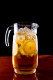 Iced tea pitcher Stock Photography