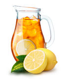 Iced tea in a pitcher Stock Photography