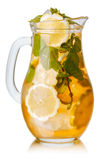 Iced tea pitcher Stock Images