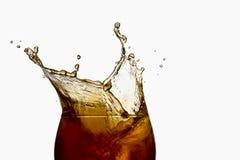 Iced tea splashing Royalty Free Stock Photos