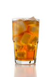 Iced Tea on White Stock Photography