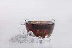 Iced tea  on white Royalty Free Stock Image