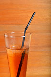Iced tea. On the wooden board Royalty Free Stock Photography