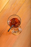 Iced tea. On the wooden board Royalty Free Stock Image