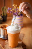 Iced Thai Milk Tea Royalty Free Stock Photos