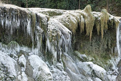 iced vattenfall Arkivfoton
