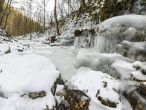 iced vattenfall Fotografering för Bildbyråer