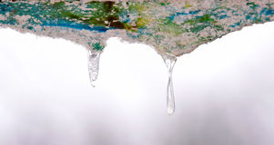 Iced Water Stalactites Royalty Free Stock Photo