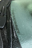Iced windshield Royalty Free Stock Image
