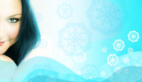 Iced woman royalty free stock images