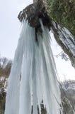 Icefall σε Valganna, Βαρέζε Στοκ φωτογραφία με δικαίωμα ελεύθερης χρήσης