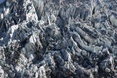 Icefall του παγετώνα βουνών βόρειου Annapurna Στοκ Εικόνες