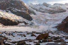 Горы, перемещение, природа, красивое место, icefall, стоковое фото