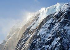Icefall On Alaskan Peak royalty free stock photography