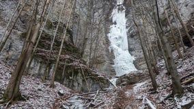 Icefall - Brankovsky icefall, Slovakia Stock Photos
