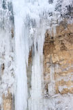 Icefall. The close-up of Icefall stock images