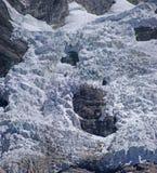 Icefall del ghiacciaio nelle alte Ande Immagini Stock