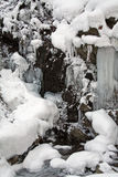 Icefall in the forest Stock Photos