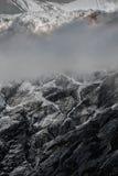 Icefall on glacier. In Nepal mountains, Manaslu royalty free stock photo